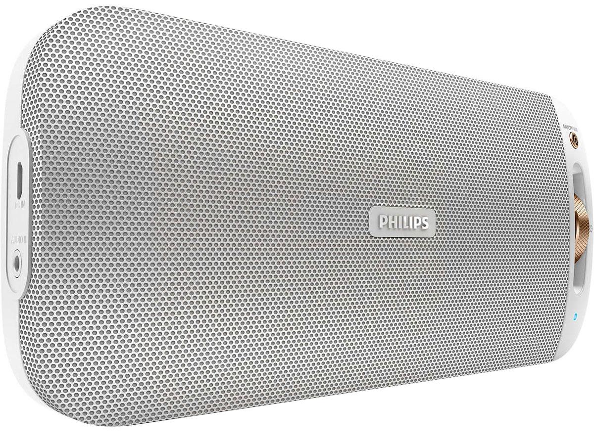 Philips BT3600W/00, White портативная акустическая системаBT3600W/00Philips BT3600W/00 - великолепный звук в невероятно тонком исполнении. Встроенная технология NFC позволяет выполнять сопряжение одним касанием, а благодаря функции Bluetooth Multipair можно мгновенно обмениваться музыкой между двумя устройствами. Bluetooth - надежная и энергоэффективная технология беспроводной связи малого радиуса действия, которая позволяет с легкостью подключать iPod/iPhone/iPad и другие Bluetooth-устройства, например смартфоны, планшетные компьютеры и ноутбуки. Теперь вы сможете без проводов воспроизводить на этой акустической системе любимую музыку и звук во время игр или просмотра видео. Функция антиклиппинга позволит вам даже при низком заряде батареи слушать музыку высокого качества на любой громкости. Она позволяет работать с входными сигналами от 300 мВ до 1000 мВ и воспроизводить звук без искажений. АС оснащены специальным микрочипом для антиклиппинга. Это дает возможность воспроизводить музыкальный сигнал так, как он...