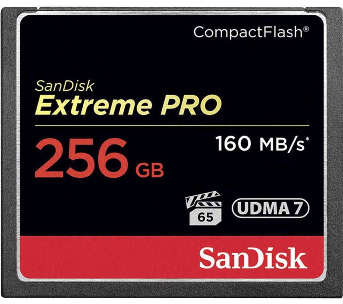 SanDisk Extreme Pro CompactFlash 256GB карта памятиSDCFXPS-256G-X46Карты памяти SanDisk Extreme PRO CompactFlash представляют собой высокопроизводительные устройства большой емкости, рассчитанные на съемку кинематографического видео. Скорость передачи данных до 160 МБ/с обеспечивает высокую производительность и эффективность, которые следует ожидать от продукции мирового лидера в сфере флеш-памяти. Эти передовые карты памяти оптимизированы для профессиональной видеосъемки и гарантируют минимальную устойчивую скорость записи 65 МБ/с для съемки видео в форматах 4K и Full HD. Емкости до 256 ГБ достаточно для хранения нескольких часов видео и тысяч изображений высокого разрешения. Чтобы вы не упустили ни одного важного момента, мы сделали эту карту памяти невосприимчивой к экстремальным температурам, ударам и другим испытаниям судьбы. Благодаря высокой надежности и быстродействию этой карты памяти вы сможете снимать быстрее, работать продуктивнее, а также в большей мере раскрывать потенциал новейших функций, таких...