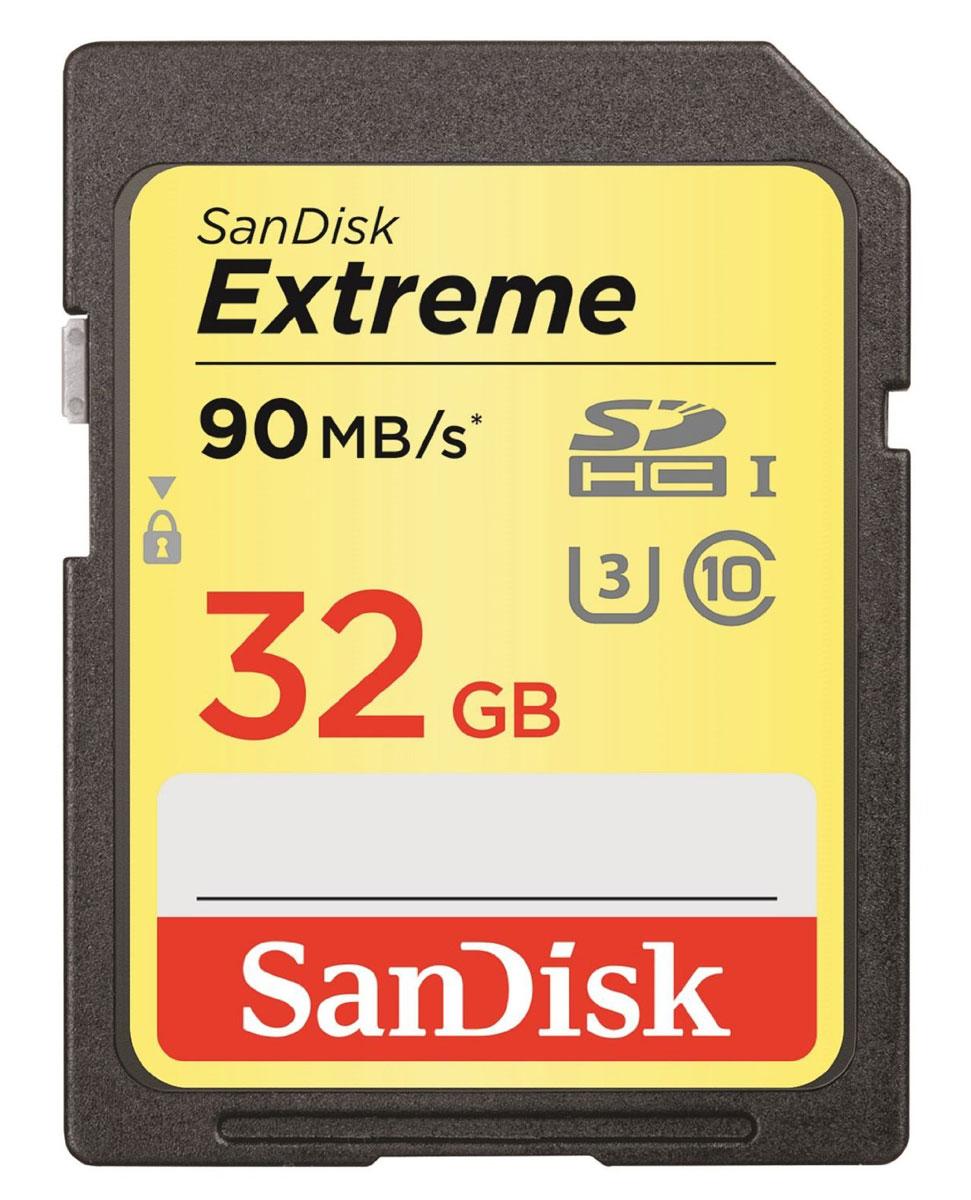 SanDisk Extreme SDHC UHS-I 32GB карта памяти (90 МБ/с)