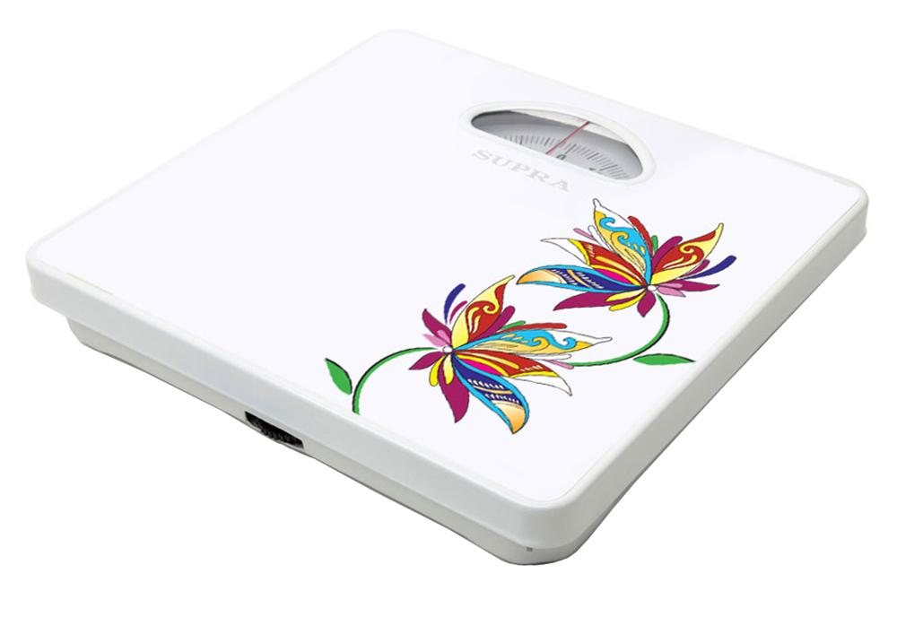 Supra BSS-4060 Flower весы напольныеBSS-4060 FlowerМеханические напольные весы Supra BSS-4060 максимально удобны и надежны в использовании благодаря качественным материалам и простой конструкции. Максимальный вес составляет 130 кг, а шаг измерений - 1 кг. Корпус прибора украшен цветочным рисунком.