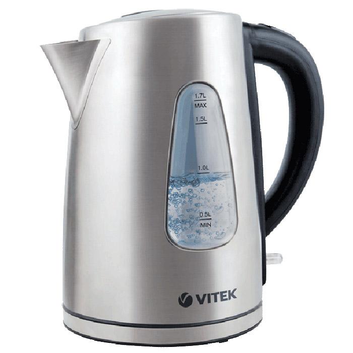 Vitek VT-7007(ST) электрический чайникVT-7007(ST)Ни одна современная кухня не обходится без надежного электрочайника. При помощи Vitek VT-7007(ST) вы быстро вскипятите или подогреете воду для приготовления любимых горячих напитков. Важно, чтобы чайник соответствовал вашим потребностям: он должен быть функциональным, технологичным, надежным, а также практичным и стильным. Чайник Vitek VT-7007(ST) отличается высокой надежностью и безопасностью. Он изготовлен из качественных материалов и комплектующих, обеспечивающих большой срок службы приборов. Все используемые материалы безопасны для человека даже при воздействии на них высоких температур. Электрочайник Vitek VT-7007(ST) отличается долгим сроком эксплуатации, а также точностью исполнения заданных программ.