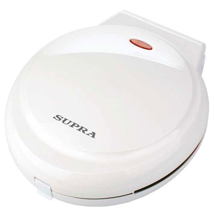 Supra WIS-222 вафельницаWIS-222Вафельница Supra WIS-222 - это удобный и простой в эксплуатации прибор мощностью 800 Вт, который имеет набор сменных пластин, что позволяет без труда приготовить аппетитные пряники или печенье по различным рецептам. Благодаря антипригарному покрытию изделия равномерно обжариваются, не пригорая к форме. Прорезиненные ножки обеспечивают устойчивое положение прибора во время работы, а термоизолированный корпус гарантирует его безопасное использование. Индикация включения Фиксатор крышки