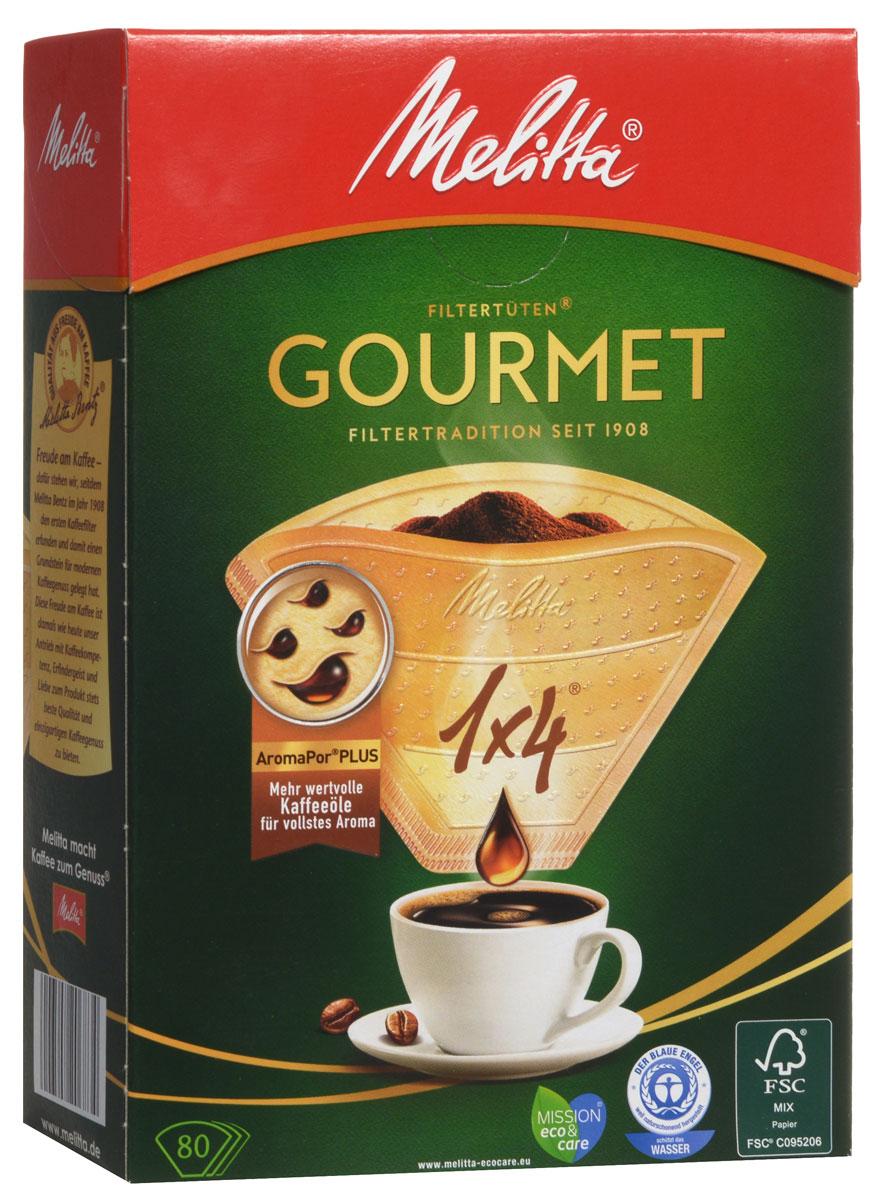 Melitta Gourmet фильтры для заваривания кофе, 1х4/80