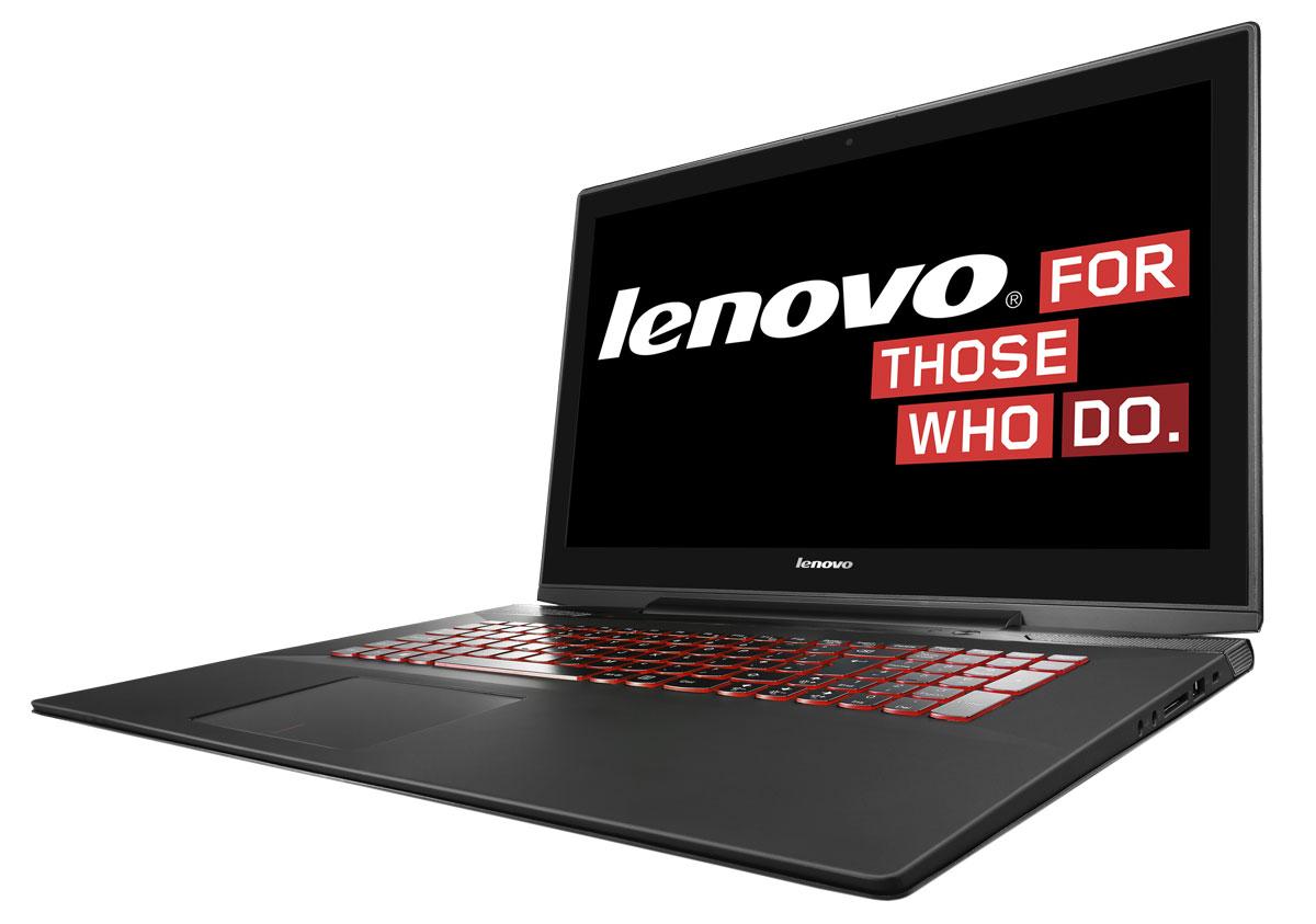 Lenovo IdeaPad Y70-70, Black (80DU00EHRK)80DU00EHRKLenovo IdeaPad Y7070 - мощный игровой ноутбук с 17,3-дюймовым сенсорным дисплеем с разрешением Full HD, демонстрирующим невероятно живое и яркое изображение, и аудиосистемой премиум-класса. Ноутбук прекрасно подойдет для вычислений любой сложности, будь то компьютерные игры или редактирование фотографий или видео. При этом форма Lenovo IdeaPad Y7070 в полной мере соответствует его содержанию: крышка из брашированного алюминия, 17.3-дюймовый дисплей FullHD разрешения со светодиодной подсветкой. Стереодинамики JBL поддерживают технологию Dolby Advanced Audio, которая обеспечивает потрясающее качество звучания на уровне продвинутых аудиосистем. Объемное пространственное звучание поможет геймерам легко определять местоположение источников звука в играх, чтобы опережать противника. Ноутбук оснащен клавиатурой AccuType, характерной особенностью которой являются разнесенные эргономичные клавиши. Такая конструкция не только позволяет набирать...