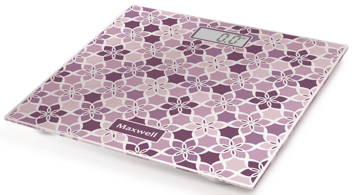 Maxwell MW-2673(VT) напольные весыMW-2673(VT)Maxwell MW-2673(VT) - напольные весы, выполненные в стильном дизайне. Одновременно с этим вас удивит и функциональность данного устройства: теперь вы легко сможете контролировать свой вес, а значит, вести здоровый образ жизни. Для вашего удобства в весах предусмотрена возможность с высокой точностью определять массу тела в килограммах, фунтах и стоунах. Платформа данной модели выполнена из высокопрочного закаленного стекла, что позволит использовать весы годами и не переживать за их сохранность. Максимально допустимый вес - 150 кг. Все данные отобразятся на удобном жидкокристаллическом дисплее. Для того, чтобы сохранить заряд батареи в весах используется функция автоматического отключения.