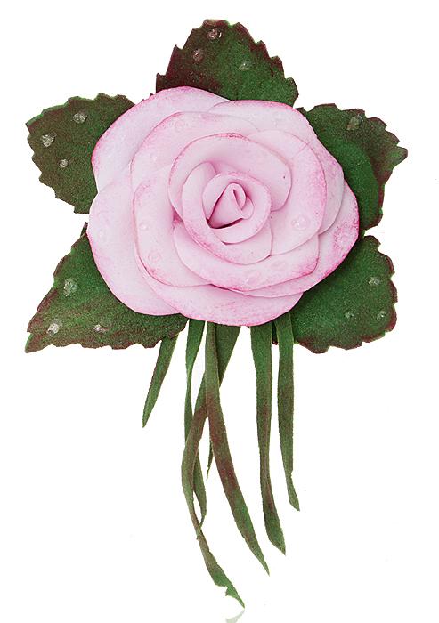 Брошь-заколка Розовая роза, ручная авторская работа. Фоамиран. РоссияKW091-000177Брошь-заколка Розовая роза. Автор - Марина Пижанова. Фоамиран, ручная работа. Россия. Размер: 7 х 6 см. Подарочная упаковка. Брошь можно носить на лацкане пиджака, или как заколку для волос.