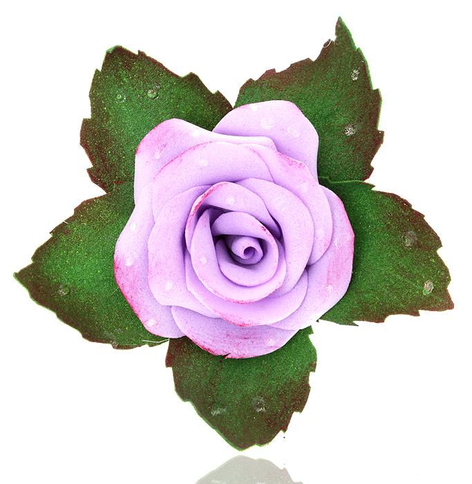 Брошь-заколка Сиреневая роза, ручная авторская работа. Фоамиран. РоссияКК5_Брошь-заколка Сиреневая роза. Автор - Марина Пижанова. Фоамиран, ручная работа. Россия. Размер: 7 х 6 см. Подарочная упаковка. Брошь можно носить на лацкане пиджака, или как заколку для волос.
