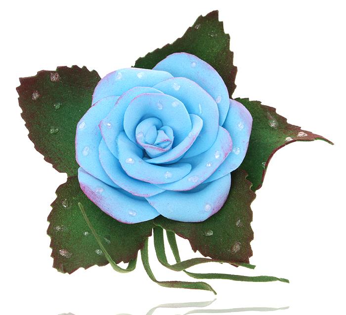 Брошь-заколка Голубая роза, ручная авторская работа. Фоамиран. РоссияKW091-000080Брошь-заколка Голубая роза. Автор - Марина Пижанова. Фоамиран, ручная работа. Россия. Размер: 7 х 6 см. Подарочная упаковка. Брошь можно носить на лацкане пиджака, или как заколку для волос.