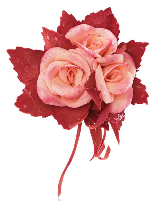 Брошь-заколка Три розовые розы, ручная авторская работа. Фоамиран. РоссияKW091-000189Брошь-заколка Три розовые розы. Автор - Марина Пижанова. Фоамиран, ручная работа. Россия. Размер: 7 х 6 см. Подарочная упаковка. Брошь можно носить на лацкане пиджака или как заколку для волос.