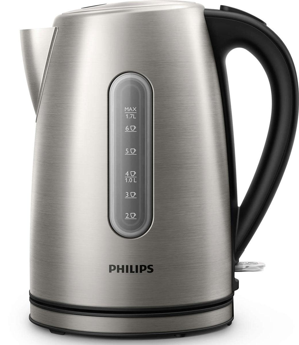 Philips HD9327/10 электрический чайникHD9327/10Надежный чайник Philips HD9327/10 из нержавеющей стали проходит проверку на устойчивость к кипячению 7500 раз, что гарантирует долгий срок службы. Микрофильтр эффективно очищает воду, а плоский и удобный для очистки нагревательный элемент обеспечивает быстрое кипячение. Микрофильтр удерживает частицы накипи размером > 400 микрон Крышка из нержавеющей стали на пружине легко открывается при нажатии кнопки Элегантная подсветка кнопки включения/выключения уведомляет о процессе нагрева воды Встроенный нагревательный элемент из нержавеющей стали обеспечивает быстрое кипячение и простую чистку