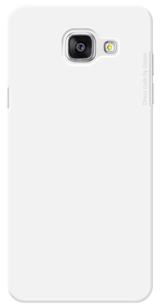 Deppa Air Case чехол для Samsung Galaxy A5(2016), White83229Чехол Deppa Air Case для Samsung Galaxy A5(2016) предназначен для защиты корпуса смартфона от механических повреждений и царапин в процессе эксплуатации. Имеется свободный доступ ко всем разъемам и кнопкам устройства. Чехол изготовлен из поликарбоната Teijin производства Японии с покрытием Soft touch.