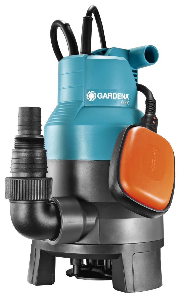 Насос дренажный Gardena 600001790-20.000.00Насос дренажный для грязной воды 6000 Classic (обратный клапан; диаметр частиц до 30 мм)