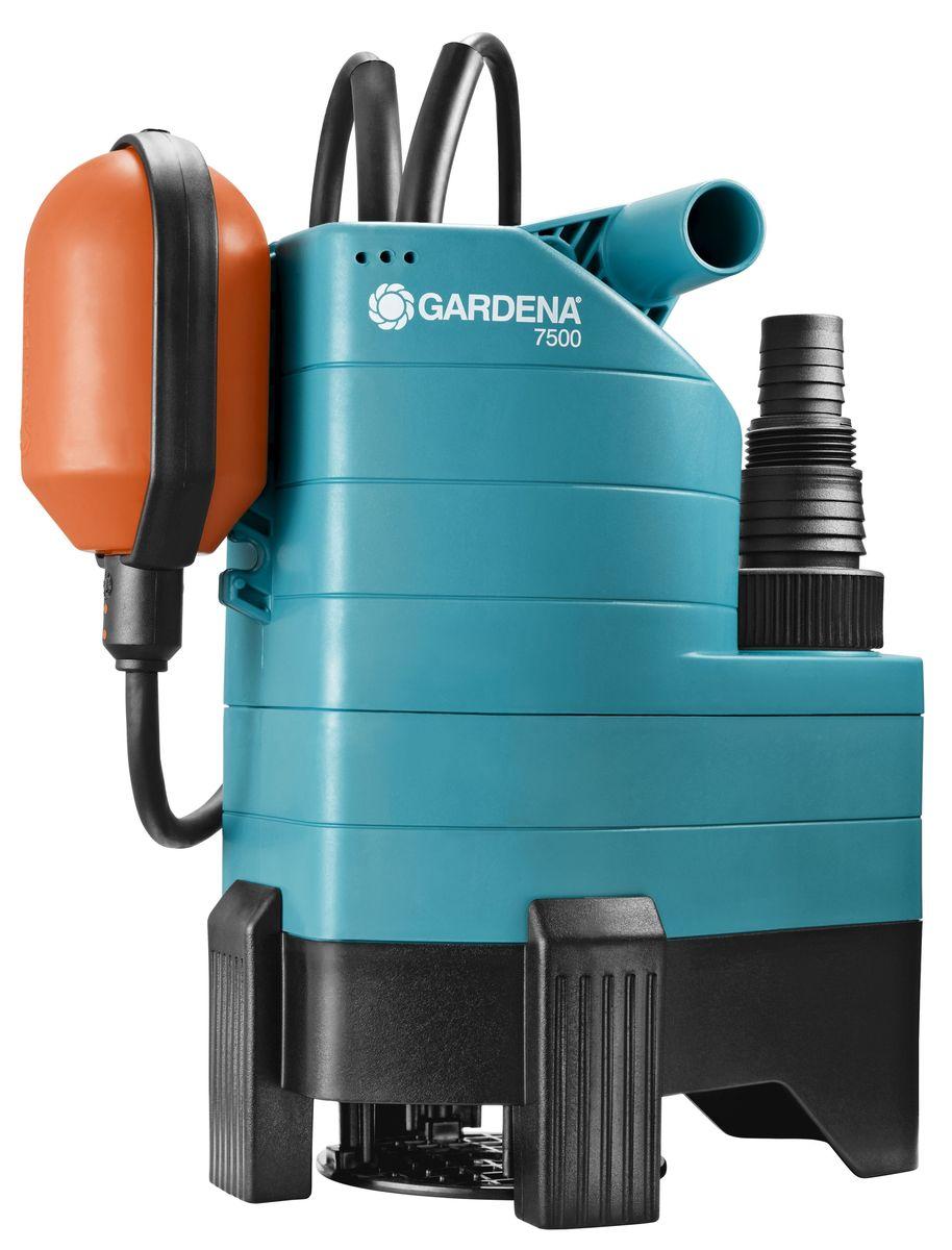 Насос дренажный Gardena 750001795-20.000.00Насос дренажный для грязной воды 7500 Classic (диаметр частиц до 25 мм)
