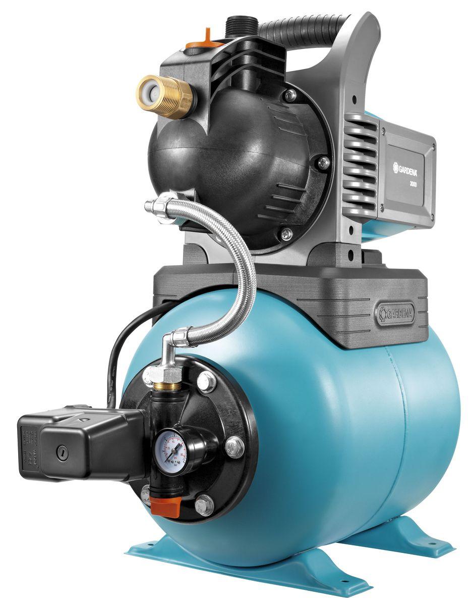 Станция бытового водоснабжения Gardena Classic 3000 01751-29.000.00Станция бытового водоснабжения автоматическая 3000/4 Classic (Обратный клапан, защита двигателя от перегрева)