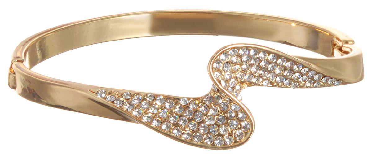 Браслет Taya, цвет: золотистый. T-B-10789T-B-10789-BRAC-GOLDСтильный женский браслет Taya, выполненный из ювелирного сплава, дополнен стразами. Застегивается браслет на замок-пряжку. Браслет Taya - это модный стильный аксессуар, призванный подчеркнуть индивидуальность и очарование его обладательницы.
