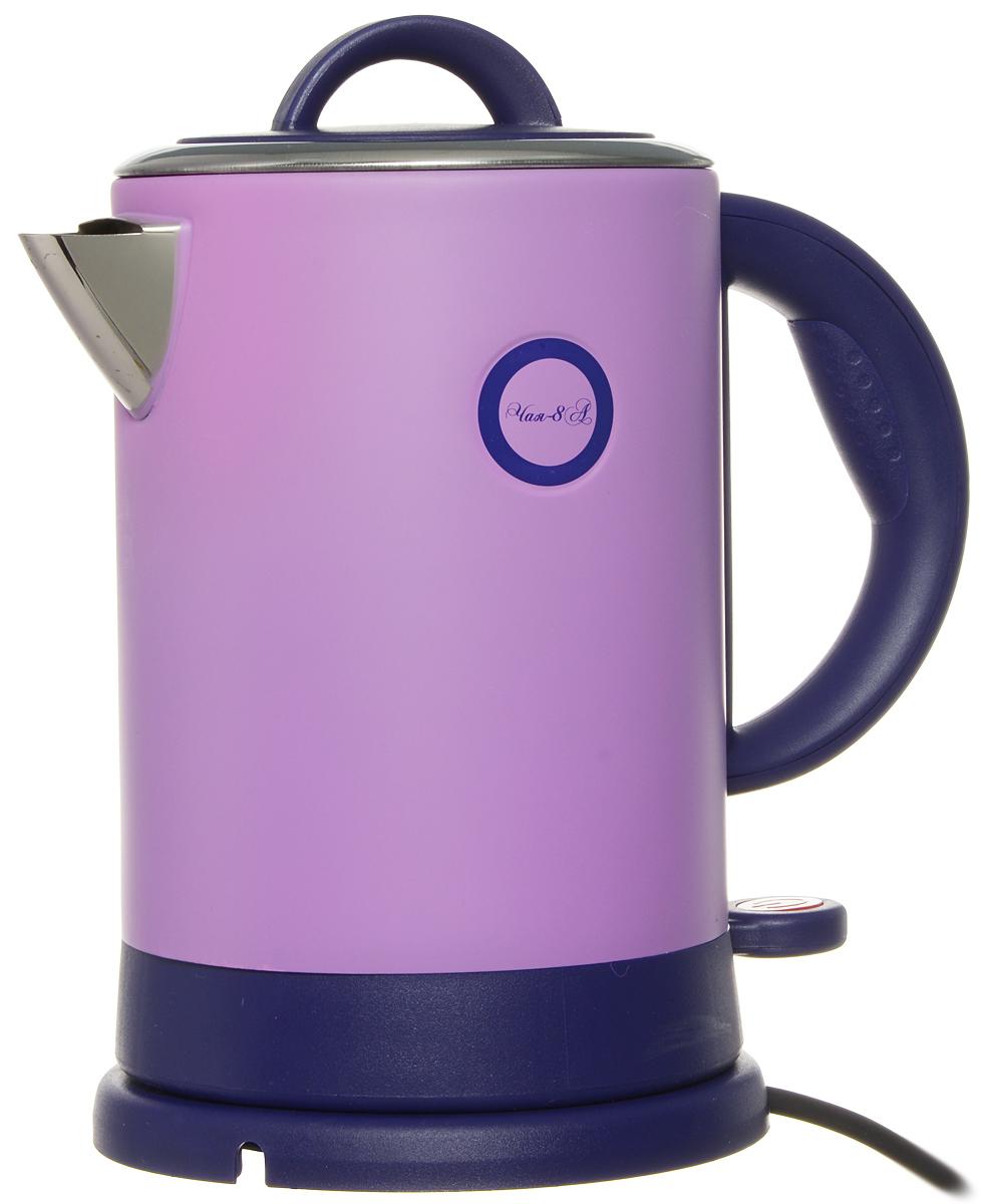Великие Реки Чая-8А, Purple электрический чайникЧая-8АВеликие Реки Чая-8А - стильный и недорогой электрический чайник в корпусе из нержавеющей стали. Модель снабжена широкой горловиной, съемной крышкой и эргономичной ручкой. Имеется также шкала уровня воды, индикатор работы и возможность вращения чайника на 360 градусов. Безопасность в использовании обеспечивает встроенная защита от перегрева.