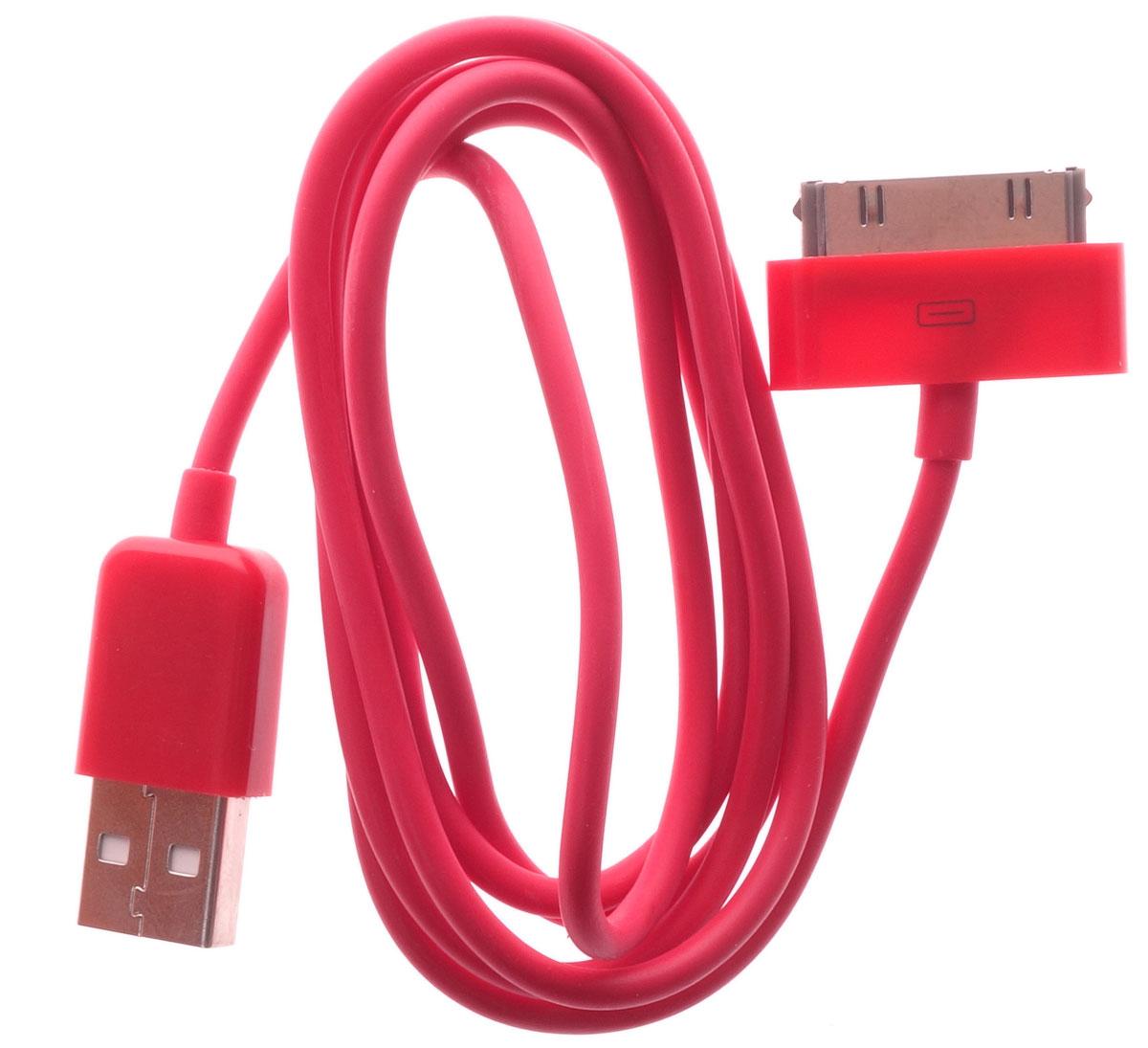 OLTO ACCZ-3013, Red кабель USBO00000261Кабель OLTO ACCZ-3013 для соединения устройств разъемом Apple 30-pin c USB-портом. Он может использоваться для передачи данных, зарядки аккумулятора и адаптирован для работы со всеми операционными системами. Главное достоинство OLTO ACCZ-3013 в его внешнем виде. Он выгодно отличается от привычных и скучных расцветок стандартных кабелей.