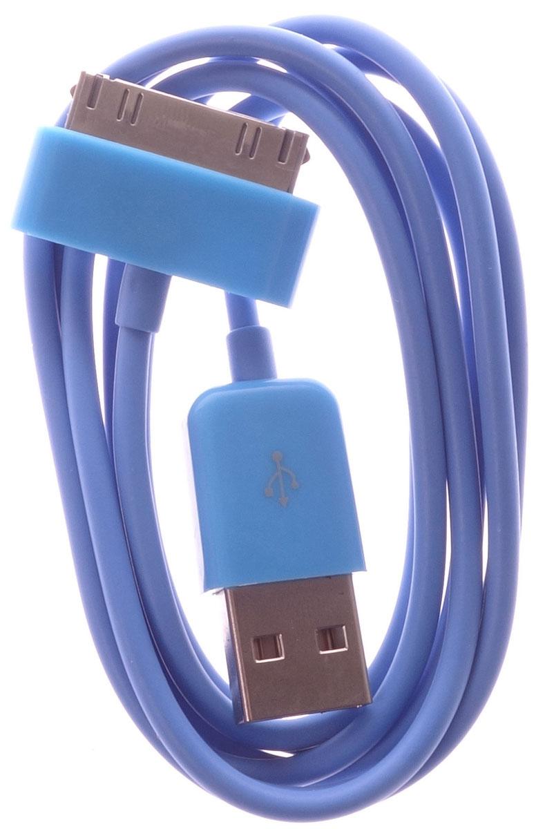 OLTO ACCZ-3013, Blue кабель USBO00000263Кабель OLTO ACCZ-3013 для соединения устройств разъемом Apple 30-pin c USB-портом. Он может использоваться для передачи данных, зарядки аккумулятора и адаптирован для работы со всеми операционными системами. Главное достоинство OLTO ACCZ-3013 в его внешнем виде. Он выгодно отличается от привычных и скучных расцветок стандартных кабелей.
