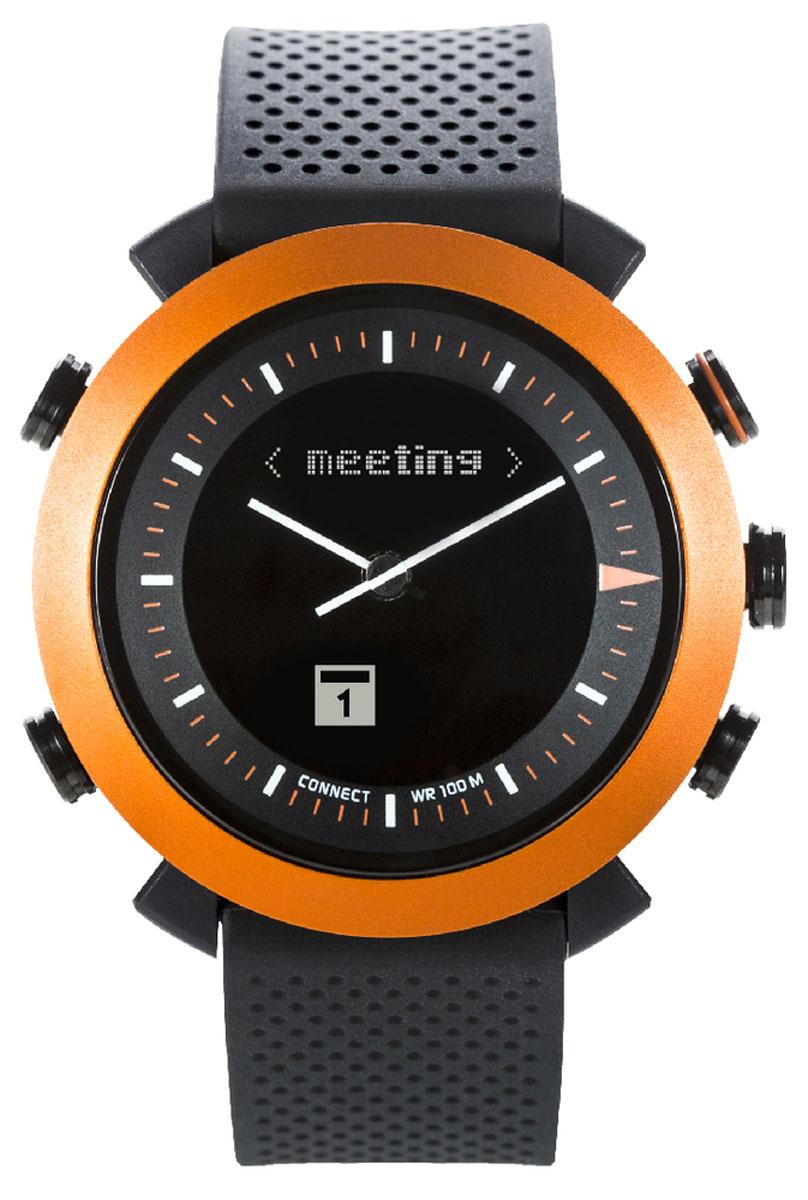 Cogito Classic, Orange смарт-часыCW2.0-005-01Cogito Classic - новый, но уже зарекомендовавший себя гаджет из категории connected watch. Разработчики поместили японский часовой механизм и высокотехнологичную начинку умных часов в водонепроницаемый корпус (до 100 м), чтобы вы могли следить за событиями в своем цифровом окружении. Теперь вы сможете получать уведомления о звонках, твитах, сообщениях, постах в социальных сетях и электронных письмах, просто привязав Cogito Classic к смартфону. Cogito Classic не нуждается в ежедневной подзарядке - одна батарейка обеспечит год непрерывной работы! Часы Cogito Classic созданы, чтобы стать частью стиля делового, общительного и чуткого к веяниям моды человека. Выберите цветовое решение по вкусу и носите их как стильный и функциональный аксессуар. Чтобы начать работу с устройством, достаточно ознакомиться с инструкцией, установить на смартфон или планшет фирменное приложение Connected Watch App и установить соединение через Bluetooth. В приложении вы сможете настроить...