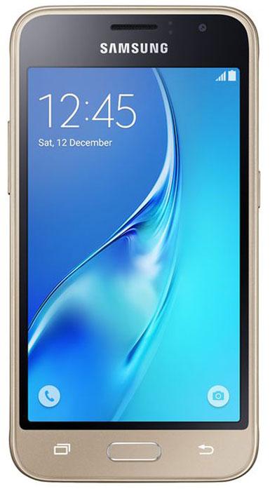 Samsung SM-J120F Galaxy J1 (2016), GoldSM-J120FZDDSERSamsung Samsung SM-J120F Galaxy J1 - это гармония стиля и функциональности. Закругленные края подчеркивают простой, но элегантный и современный дизайн, а толщина корпуса в 8,9 мм обеспечивает удобство в использовании! Яркие впечатления от просмотра Яркие впечатления от просмотра на 4,5 экране. Он отличается широкой палитрой воспроизводимых цветов. Благодаря обновленному дизайну экран выглядит шире, а воспроизводимые изображения очень реалистичны. Яркие и четкие фотографии: 5-мегапиксельная основная камера с диафрагмой f/2.2 - гарантия отличных снимков. Емкий аккумулятор: Аккумулятор с емкостью 2050 мАч позволит оставаться на связи дольше обычного. Разрядился аккумулятор? Нет проблем! Режим максимального энергосбережения позволит продлить работу вашего смартфона. Повышенная производительность: 4-ядерный 1,3 ГГц процессор и 1 ГБ оперативная память обеспечат мгновенную реакцию смартфона на любые ...