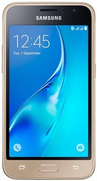 Samsung SM-J105H Galaxy J1 mini, GoldSM-J105HZDDSERSamsung SM-J105H Galaxy J1 mini - это гармония стиля и функциональности. Закругленные края подчеркивают простой, но элегантный и современный дизайн, а толщина корпуса в 10,7 мм обеспечивает удобство в использовании! Яркие впечатления от просмотра Яркие впечатления от просмотра на 4 экране. Он отличается широкой палитрой воспроизводимых цветов. Благодаря обновленному дизайну экран выглядит шире, а воспроизводимые изображения очень реалистичны. Яркие и четкие фотографии: 5-мегапиксельная основная камера с диафрагмой f/2.2 - гарантия отличных снимков. Емкий аккумулятор: Аккумулятор с емкостью 1500 мАч позволит оставаться на связи дольше обычного. Разрядился аккумулятор? Нет проблем! Режим максимального энергосбережения позволит продлить работу вашего смартфона. Повышенная производительность: 4-ядерный 1,2 ГГц процессор обеспечит мгновенную реакцию смартфона на любые ваши действия. Вы по достоинству...