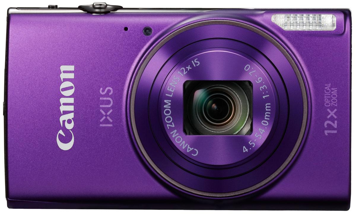 Canon IXUS 285HS, Purple цифровая фотокамера1082C001Оцените стиль и качество в карманном формате со сверхтонкой камерой IXUS с зумом 12x. С легкостью снимайте потрясающие фотографии и видео в разрешении Full HD и делитесь результатами по Wi-Fi и NFC. Компактный формат: Ультратонкую стильную камеру IXUS в металлическом корпусе можно взять с собой, куда бы вы ни направились. Она оснащена универсальным широкоугольным объективом 25 мм и оптическим зумом 12x, а также функцией ZoomPlus для увеличения 24x, поэтому вы сможете с легкостью запечатлеть любой объект на любом расстоянии - и получить фотографии и видео превосходного качества. Автозумирование позволяет выбрать оптимальное кадрирование снимка одним нажатием кнопки. Мгновенные видеоролики в формате Full HD: Снимать замечательные видеоролики просто и весело. Одно нажатие кнопки - и вы уже снимаете видео Full HD (1080p) в формате MP4. Почувствуйте свободу творчества при видеосъемке, используя оптический зум, - результат все равно поразит...