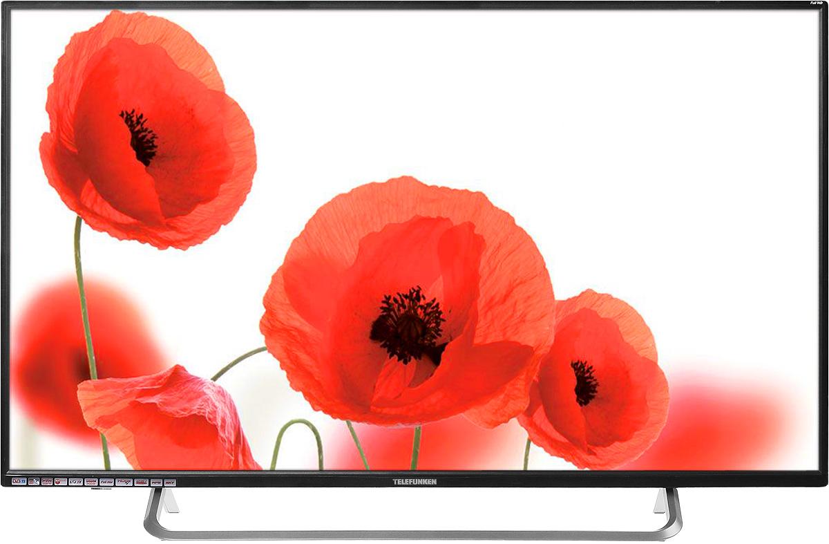 Telefunken TF-LED43S36T2, Black телевизорTF-LED43S36T2Telefunken - это европейский бренд, успешно сочетающий многолетние традиции, передовые разработки и традиционно высокое немецкое качество. Telefunken TF-LED43S36T2 - легкий и компактный телевизор, который идеально подойдет для небольшого помещения. Данная модель оснащена интерфейсами VGA, HDMI и USB, а встроенный проигрыватель видео, позволит вам смотреть фильмы в превосходном качестве. Telefunken TF-LED43S36T2 выполнен в классическом стиле и имеет черный корпус, а также яркость, равную 330 кд/м2. Аудиосистема состоит из двух динамиков мощностью по 8 Вт. Данная модель оснащается LED-подсветкой и поддерживает функцию телетекста. Целый ряд различных встроенных цифровых тюнеров позволит поддерживать сразу несколько стандартов телерадоивещания. Также модель обладает функцией прогрессивной развертки изображения и цифровым шумоподавлением. Контрастность: 1200:1 Углы обзора: 176° x 176° Время отклика: 8 мс Количество каналов: 199...