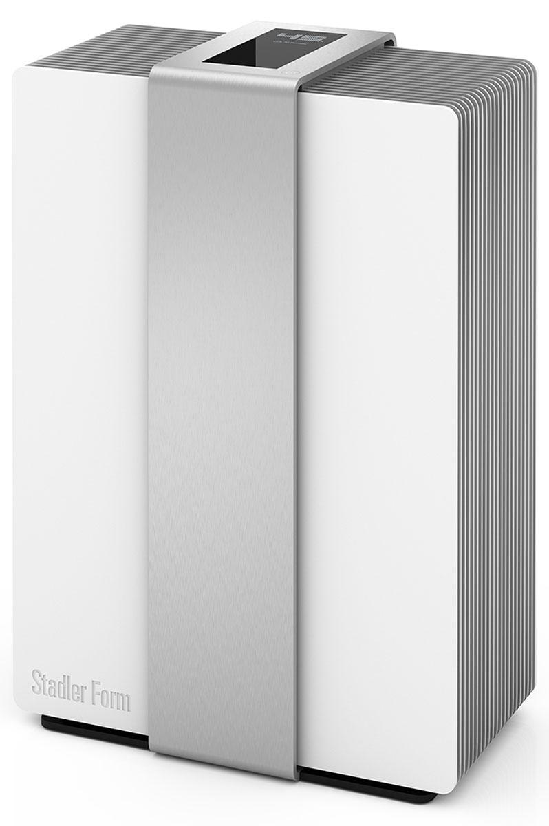 Stadler Form Robert R-002, Silver мойка воздуха802322006032Мойка воздуха Stadler Form Robert R-002 обеспечивает рекордную производительность — увлажнение воздуха в комнате до 80 квадратных метров. При такой высокой мощность увлажнитель потребляет самое минимальное количество электроэнергии — всего 8 Вт! Корпус увлажнителя имеет уникальное алюминиевое покрытие. А сенсорная панель управления интегрирована в массивный вертикальный пояс из алюминия толщиной 4 мм. Stadler Form Robert R-002 - это первый увлажнитель, дисплей которого оживает при поднесении руки. Это совершенно уникальная концепция умной бытовой техники, которая позволяет гармонично вписать прибор практически в любой интерьер. В остальное время Robert показывает текущую влажность воздуха в доме (встроенный гигростат), что также очень удобно, так как многие мойки воздуха лишены данной функции. При эксплуатации увлажнителя вы можете не беспокоится за качество используемой воды. Так как увлажнитель Robert имеет фильтр с ионами серебра,...