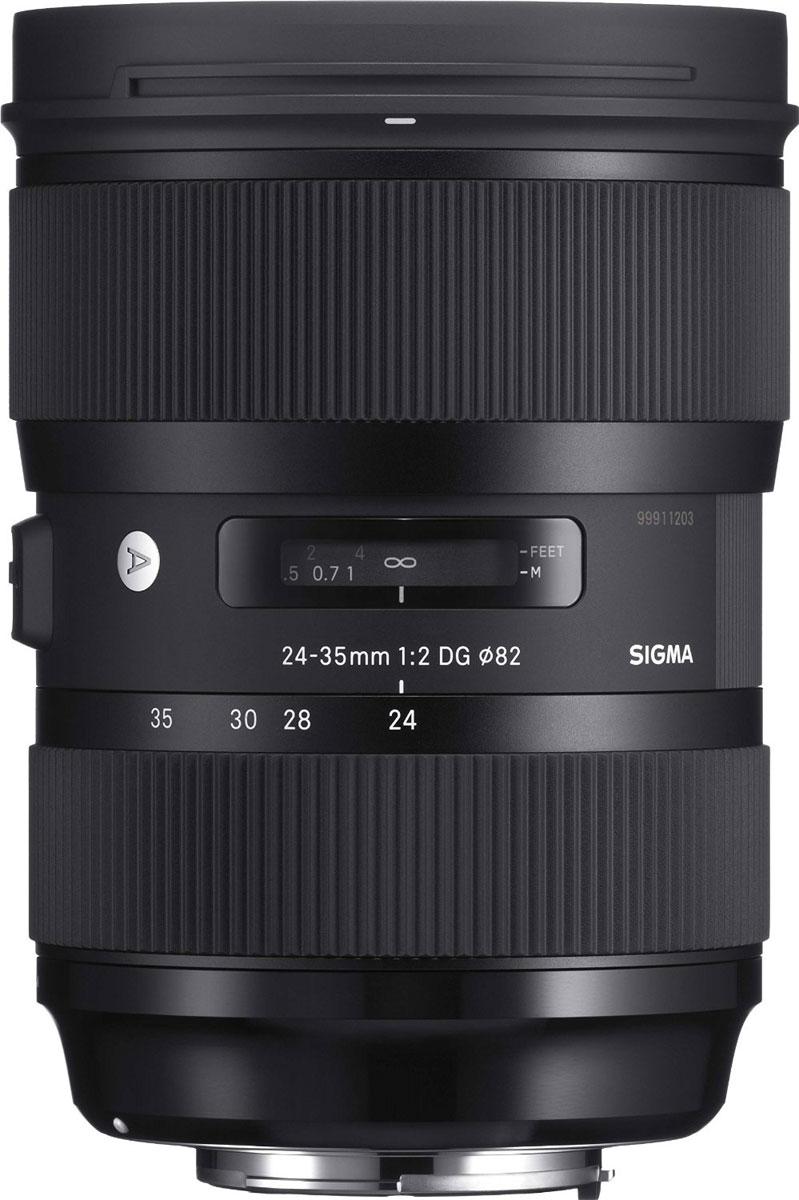 Sigma AF 24-35mm f/2.0 DG HSM объектив для Nikon588955Sigma AF 24-35mm f/2.0 DG HSM - светосильный полноформатный широкоугольный зум-объектив с постоянной диафрагмой. Обладая оптическими характеристиками, свойственными фикс-объективам серии Art, этот объектив покрывает фокусные расстояния 24мм, 28мм и 35мм, и выдающееся качество изображения дополняется удобством обычного зум-объектива. Объектив имеет минимальную дистанцию фокусировки 28 см и максимальный масштаб 1:4.4, что делает его отличным решением для предметной и портретной съемки с высокохудожественным боке, а также для пейзажной фотографии с глубоким фокусом. Теперь фотографу нет необходимости менять широкоугольные объективы на камере, чтобы изменить угол обзора. Объектив содержит асферический элемент большого диаметра, требующий применения самых передовых технологий, один элемент из FLD стекла и 7 элементов из SLD стекла, два из которых асферические. Передовая оптика и оптимизированная оптическая схема минимизируют сферические аберрации,...