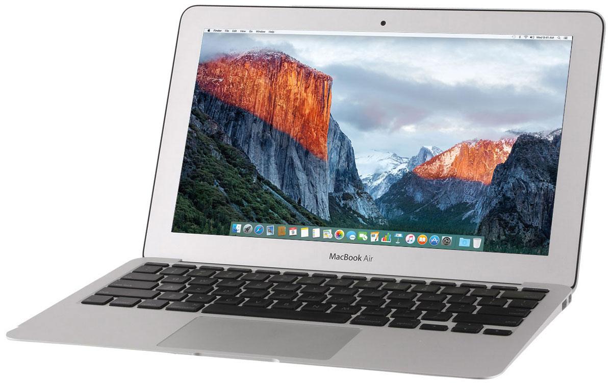 Apple MacBook Air 11.6 (Z0RL000AM)Z0RL000AMApple MacBook Air 11 - это сверхкомпактный ноутбук в прочном алюминиевом корпусе размером с глянцевый журнал. Двухъядерный процессор Intel Core пятого поколения, графика Intel HD 6000 и скоростной Flash- накопитель обеспечивают производительность, которой хватит для любых задач. MacBook Air оснащается процессорами Intel Core 5-го поколения. Их сверхэффективная архитектура была разработана для снижения потребления энергии в условиях высокой производительности. Теперь вы не только обладаете широкими возможностями, но и временем, чтобы ими пользоваться. К тому же, графический процессор Intel HD Graphics 6000 обрабатывает графику до 40% быстрее - вы особенно оцените его, играя в игры или выполняя другие ресурсоёмкие операции. 11-дюймовый MacBook Air теперь работает без подзарядки до 9 часов. Вам не понадобится подзарядка в течение всего дня: от кофе утром и до возвращения домой вечером. А когда настанет время отдыха, вы можете смотреть фильмы в iTunes...