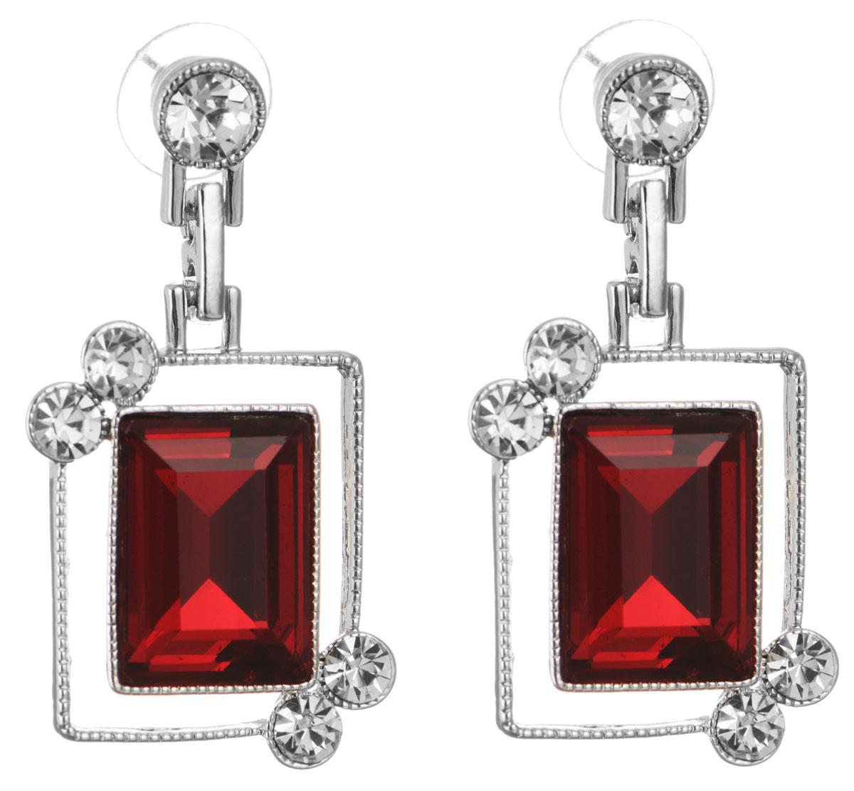 Серьги Taya, цвет: серебристый, красный. T-B-10689-EARR-SL.REDT-B-10689-EARR-SL.REDОригинальные серьги Taya, выполненные из металлического сплава в виде подвесок квадратной формы декорированных крупными и мелкими стразами, придадут вашему образу изюминку, подчеркнут красоту или преобразят повседневный наряд. Застегиваются на замок-гвоздик с пластиковой заглушкой. Такие серьги позволит вам с легкостью воплотить самую смелую фантазию и создать собственный, неповторимый образ.