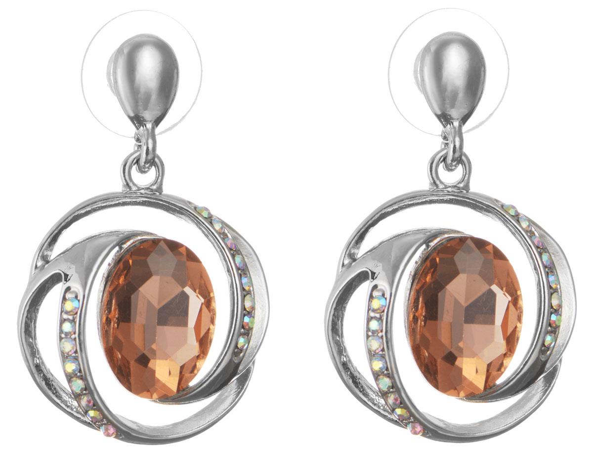 Серьги Taya, цвет: серебристый, персиковый. T-B-10706-EARR-SL.ROSET-B-10706-EARR-SL.ROSEОригинальные серьги Taya, выполненные из металлического сплава в виде подвесок округлой формы декорированных крупными и мелкими стразами, придадут вашему образу изюминку, подчеркнут красоту или преобразят повседневный наряд. Застегиваются на замок-гвоздик с пластиковой заглушкой. Такие серьги позволят вам с легкостью воплотить самую смелую фантазию и создать собственный, неповторимый образ.