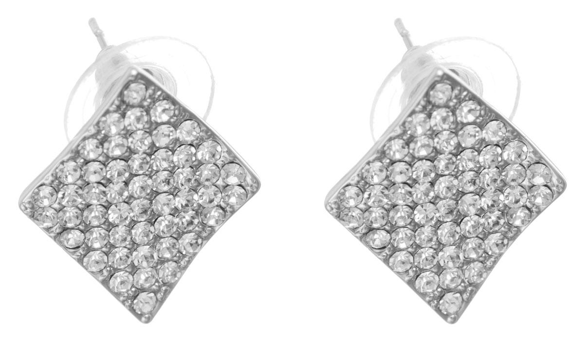 Серьги Taya, цвет: серебристый. T-B-10719-EARR-SILVERT-B-10719-EARR-SILVERОригинальные серьги Taya, выполненные из металлического сплава в виде ромбов щедро декорированных мелкими стразами, придадут вашему образу изюминку, подчеркнут красоту или преобразят повседневный наряд. Застегиваются на замок-гвоздик с пластиковой заглушкой. Такие серьги позволит вам с легкостью воплотить самую смелую фантазию и создать собственный, неповторимый образ.