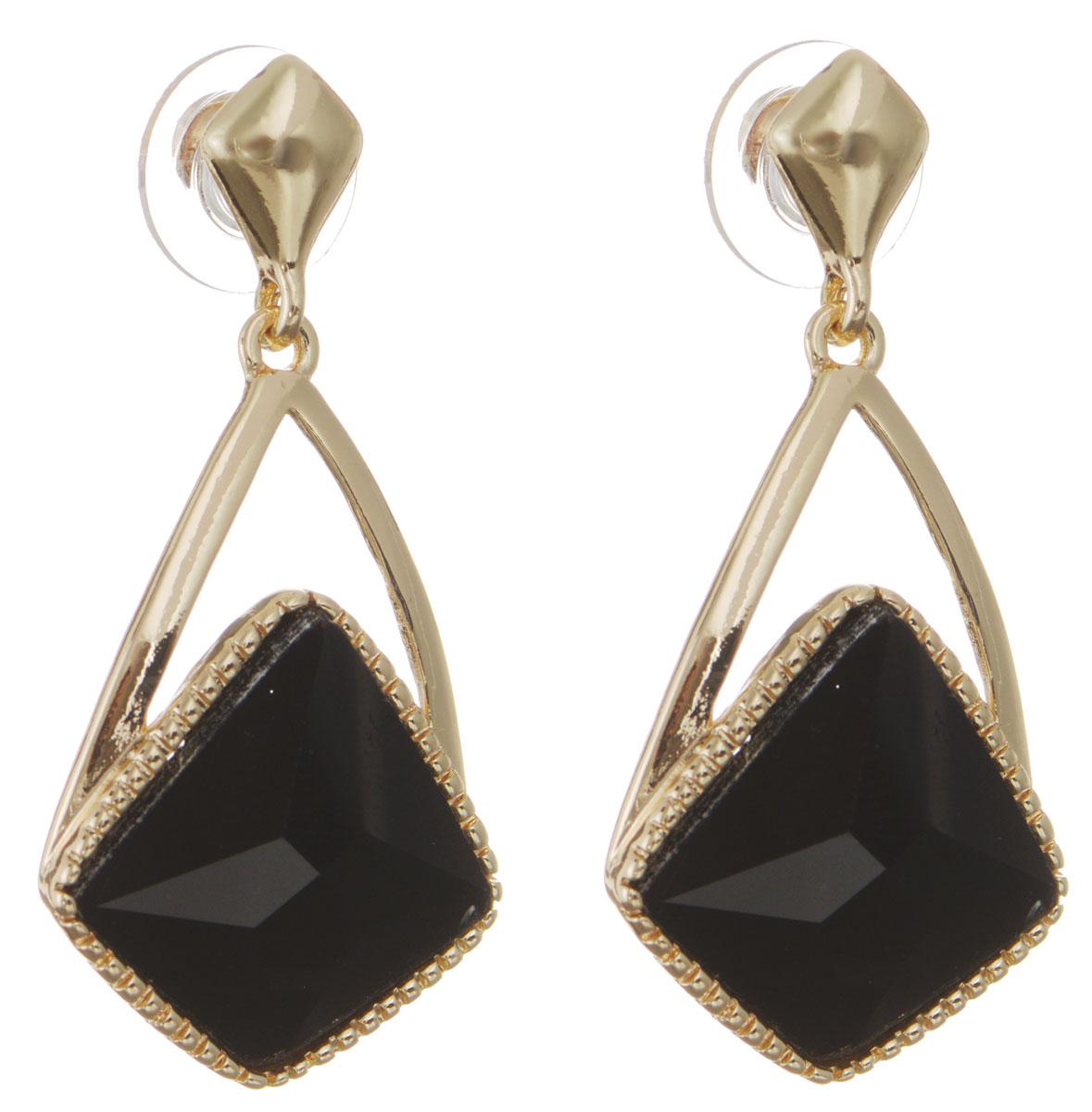 Серьги Taya, цвет: золотистый, черный. T-B-10738-EARR-GL.BLACKT-B-10738-EARR-GL.BLACKОригинальные серьги Taya, выполненные из металлического сплава в виде подвесок в форме капли декорированной крупным кристаллом необычной формы, придадут вашему образу изюминку, подчеркнут красоту или преобразят повседневный наряд. Застегиваются на замок-гвоздик с пластиковой заглушкой. Такие серьги позволят вам с легкостью воплотить самую смелую фантазию и создать собственный, неповторимый образ.