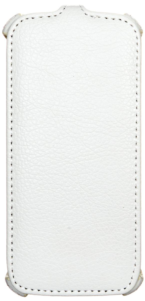 Ecostyle Shell чехол-флип для Fly IQ4405 Quad Evo Chic 1, White