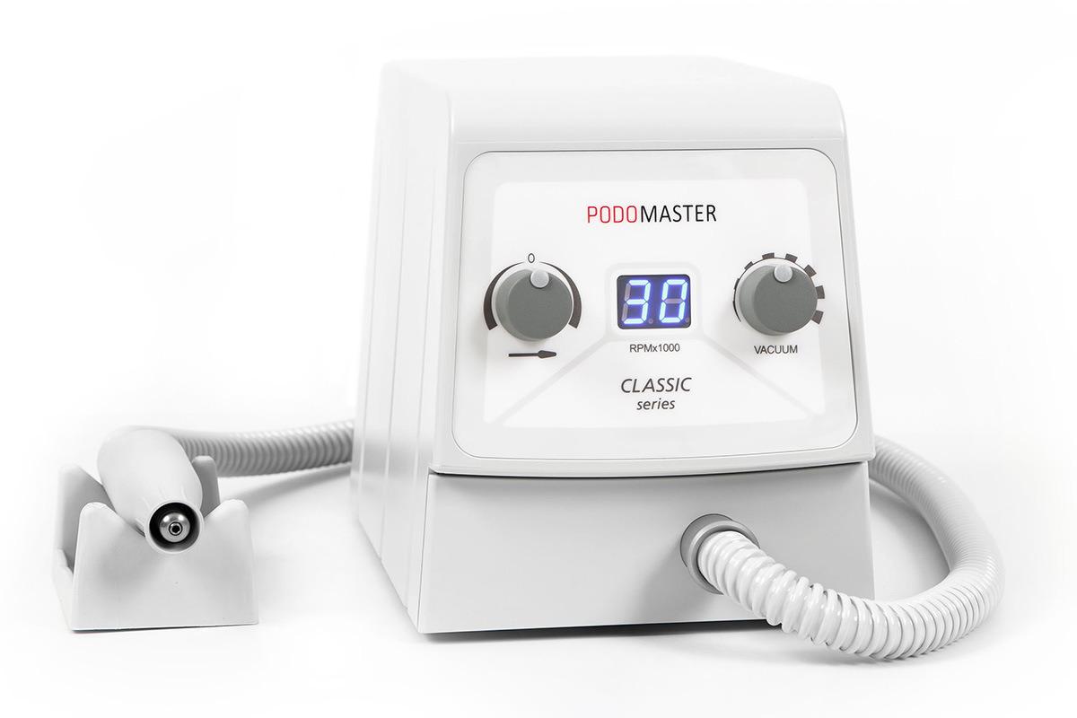 Евромедсервис Педикюрный аппарат с пылесосом Podomaster Classic Series (30 тыс. об/мин)