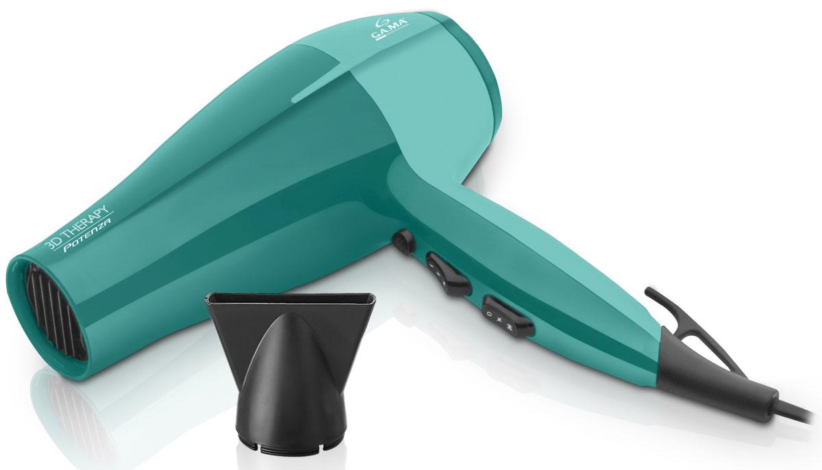 GA.MA Potenza Ion 3D Therapy фенA21.POTENZAION.3DУникальная разработка — фен GA.MA Potenza Ion 3D Therapy — это современный атрибут, наделенный инновационными свойствами. Этот мощный прибор подарит вашим волосам безупречность на каждый день. Сегодня каждая девушка мечтает обеспечить себе профессиональный салонный уход за волосами в домашних условиях. Встроенный ионизатор потока воздуха бережно избавляет от статического электричества. К слову, это особенно актуально в холодное время года. Сохранить здоровье и блеск ваших волос — вот главная задача данного фена. А благодаря многоуровневой регулировке температуры, завершение укладки холодным воздухом сделает локоны сияющими и закрепит результат укладки. Обладает ультралегким мотором DC с встроенным понижением уровня шума Улучшенная функция ионизации: на 80% больше ионов! Функциональность — 6 режимов работы Длина корпуса 23 см Съемный фильтр