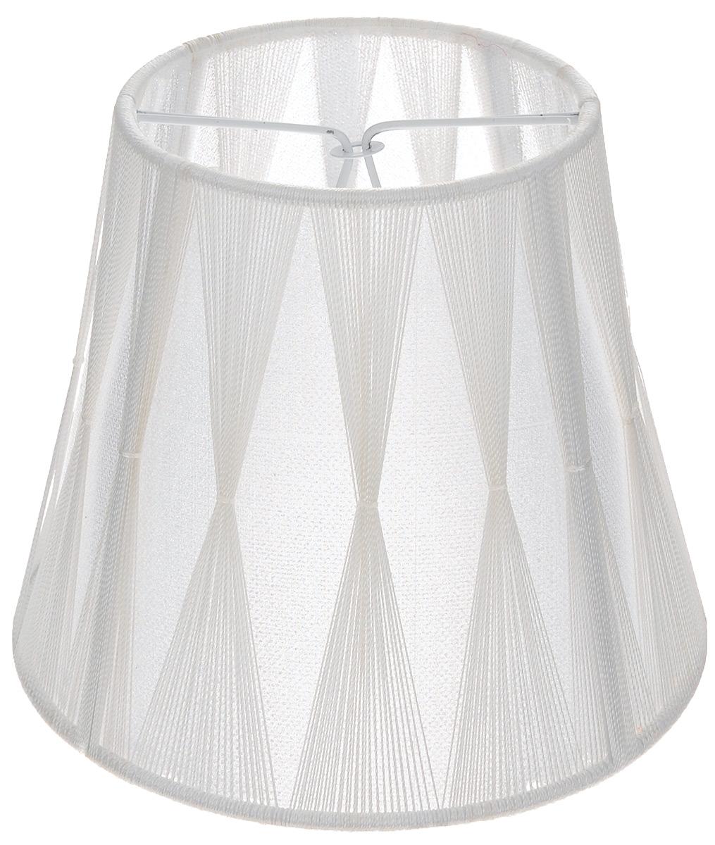 Абажур Vitaluce Креп, цвет: белый, Е14, 14 х 14 х 12 смVL0400Стильный абажур на лампу Vitaluce Креп, выполненный из металла, шелковых нитей и полиэстера, украсит ваш дом и защитит от яркого света лампы. Диаметр абажура (по верхнему краю): 9 см. Диаметр абажура (по нижнему краю): 14 см. Высота абажура: 12 см.