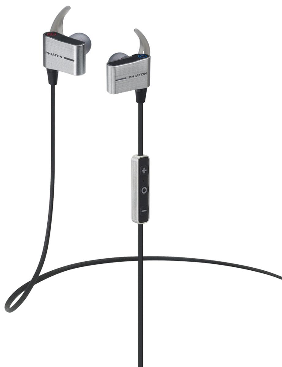 Phiaton BT110, Black беспроводные наушники-вкладыши (PPU-BE0110BK01)PPU-BE0110BK01Внутриканальные беспроводные наушники Phiaton BT 110. Влагозащитный корпус стандарта IPX4, делает их отличным решением для занятий спортом на открытом воздухе в любую погоду. Наушники также поддерживают профиль APT-X для передачи качественного звука уровня Hi-Fi по по протоколу Bluetooth. Phiaton BT 110 обладают функцией под названием ShareMe, что позволяет двое наушников BT 110 подключить к одному устройству одновременно.