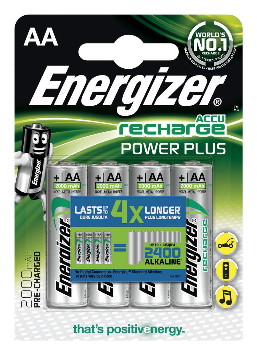 Аккумулятор Energizer Rech Power Plus, тип AA, 2000 mAh, 1,2V, 4 шт