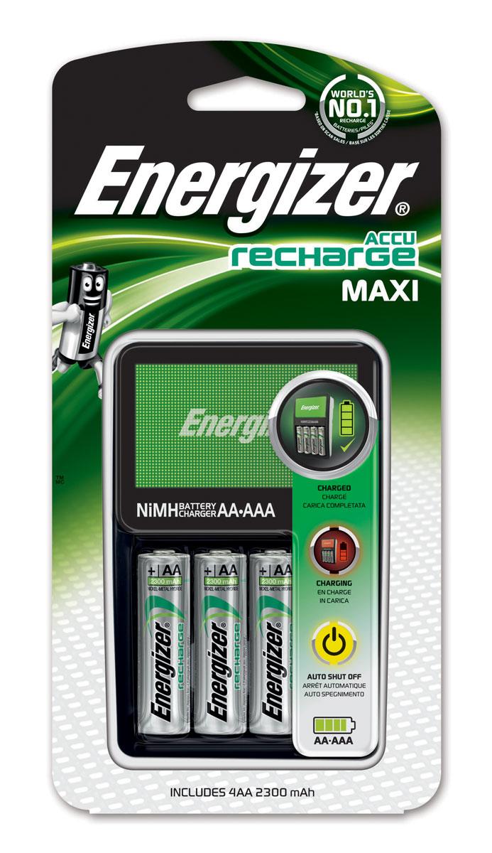 "Зарядное устройство Energizer ""Maxi Charger EU"" для аккумуляторов типоразмера АА/ААА + 4 аккумулятора типа АА (2300 mAh)"