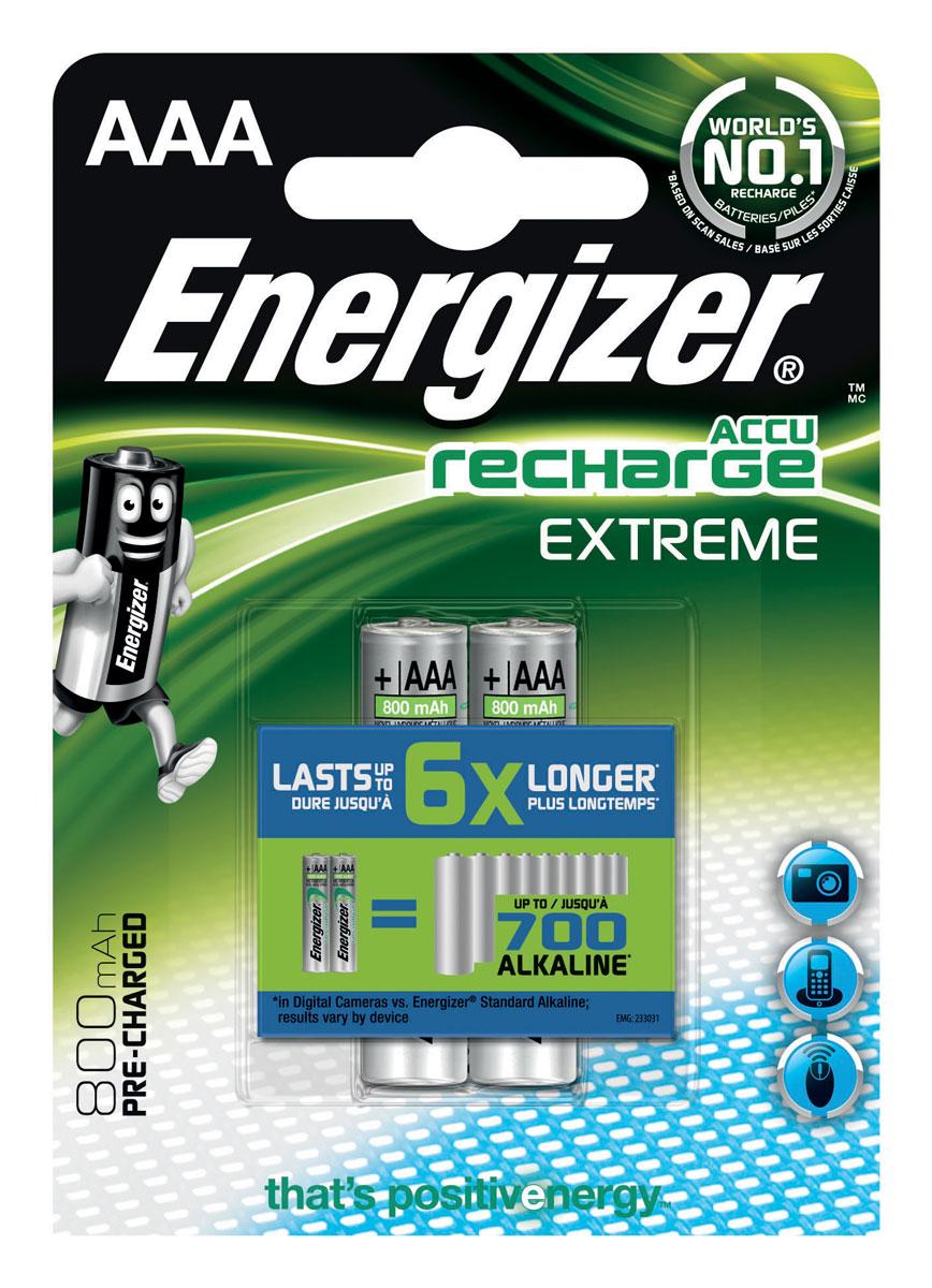 Аккумулятор Energizer Recharge Extreme, тип AAA, 800 mAh, 2 шт