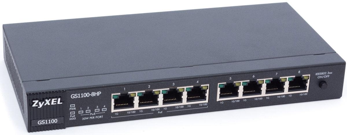 ZyXEL GS1100-8HP коммутатор (8 портов)