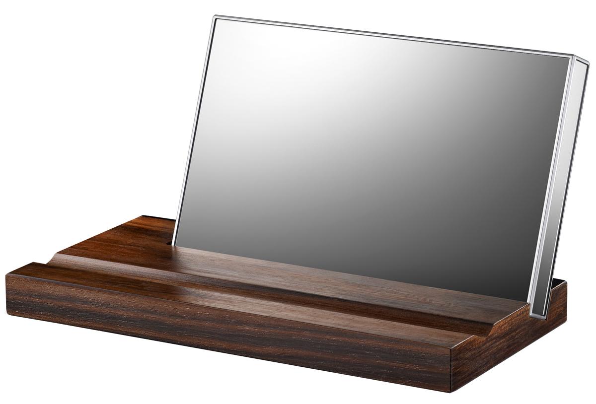 LaCie Mirror 1TB внешний жесткий дискLAC9000574LaCie Mirror - это портативный внешний жесткий диск, который компания LaCie разработала с известным французским дизайнером Полиной Дельтур. Жесткий диск имеет объем в 1 Тб, оснащен разъемом USB 3.0 и является отличным устройством для хранения цифровых фотографий, музыки, игр, фильмов и документов. Особенностью модели является корпус покрыт зеркальными панелями с удобной деревянной подставкой с подставкой из элитного черного дерева породы макассар, идущей в комплекте. Корпус жесткого диска выполнен из закаленного стекла Corning Gorilla Glass 3, который в сочетании с технологией дополнительного сопротивления повреждениям Native Damage Resistance (NDR), делает устройство еще более надежным. Со всех сторон корпус покрыт зеркальными панелями и высококачественной пластмассой на всех гранях устройства. Жесткий диск может устанавливаться на подставку из эбенового дерева в которой имеется две канавки, одна накопителя, а вторая для ручки или карандаша. С таким...