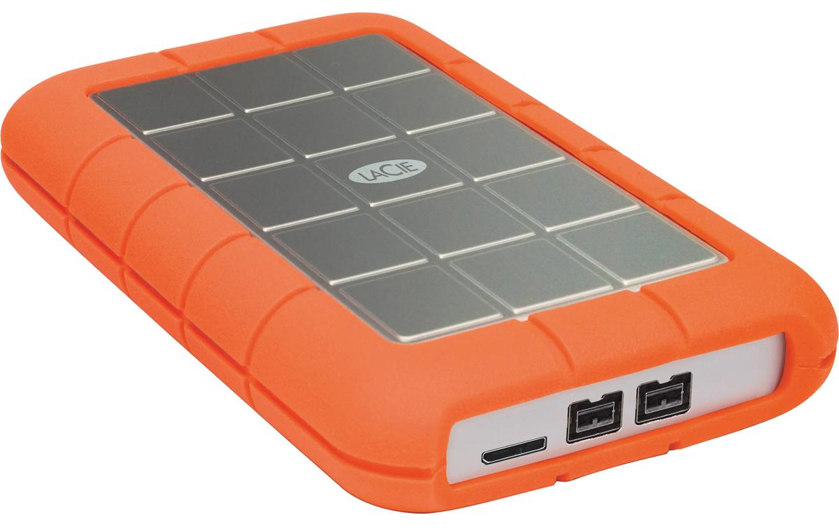 LaCie Rugged Triple 1TB внешний жесткий диск301984Внешний жесткий диск LaCie Rugged Triple предлагает молниеносные скорости передачи данных через интерфейсы USB 3.0 и FireWire 800, а также полную совместимость с интерфейсами FireWire 400 и USB 2.0. Благодаря противоударной конструкции, универсальной совместимости и трем интерфейсам с поддержкой питания по шине в режиме plug and play жесткий диск надежен и прост в эксплуатации Если вы хотите получить высокие скорости передачи данных и полную совместимость, жесткий диск Rugged Triple удовлетворит все ваши потребности. Падение с высоты 2 м Максимальная скорость: до 110 МБ/с Защита с помощью 256-битного шифрования AES Совместимые ОС: Windows 7, Windows 8 и выше / Mac OS X 10.5 и выше