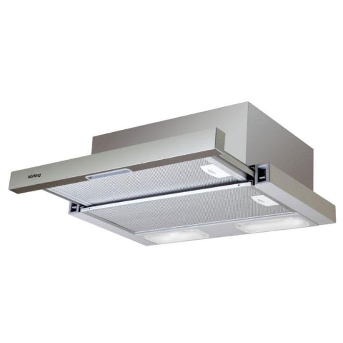 Korting KHP 6211 X кухонная вытяжка6Вытяжка Korting KHP 6211 X поможет вам эффективно решить проблему очистки воздуха. Она осуществляет работу в режимах отвода или рециркуляции воздуха. Вытяжка сочетает в себе качество, функциональность и элегантный дизайн, что делает ее отличным дополнением для вашей кухни. Жировой фильтр, или фильтр грубой очистки, предназначен для защиты двигателя, вентиляторов и отводящих труб от скопления мельчайших частичек жира, попадающих в в воздух во время приготовления пищи. Жироулавливающие фильтры обычно изготовлены из нержавеющей стали в виде мелкоячеистой сетки. Фильтр легко снимается для очистки или замены. Переключение скоростей и прочие настройки могут производиться с помощью ползунков (слайдеров) или c помощью нажатием кнопок.