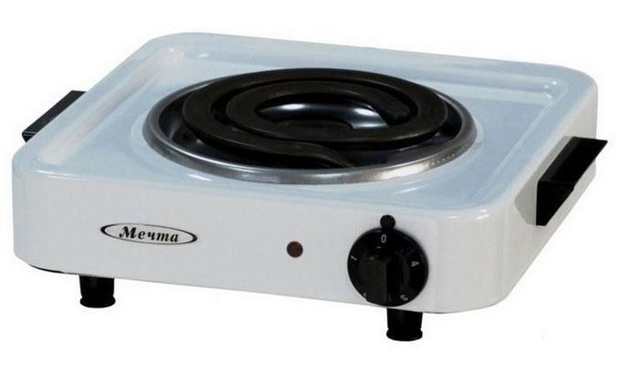 Мечта 111Т плитка электрическаяПЭ Мечта 111ТЭлектроплитка Мечта 111Т имеет стеклоэмалевое покрытие, что позволяет с легкостью удалять любые загрязнения с поверхности и надолго сохранять отличный внешний вид, время нагревания тэна не более 3 минут, плита имеет устойчивое положение на любой поверхности благодаря опорным ножкам которые оборудованы вкладышами противоскольжения. Так же данная электроплита имеет ступенчатый переключатель мощностей и спиральные российские тэны, срок работы которых минимум 5000 часов. Диаметр конфорки: 17,5 см. Размер нагревательного элемента: 14,5 см х 16 см.