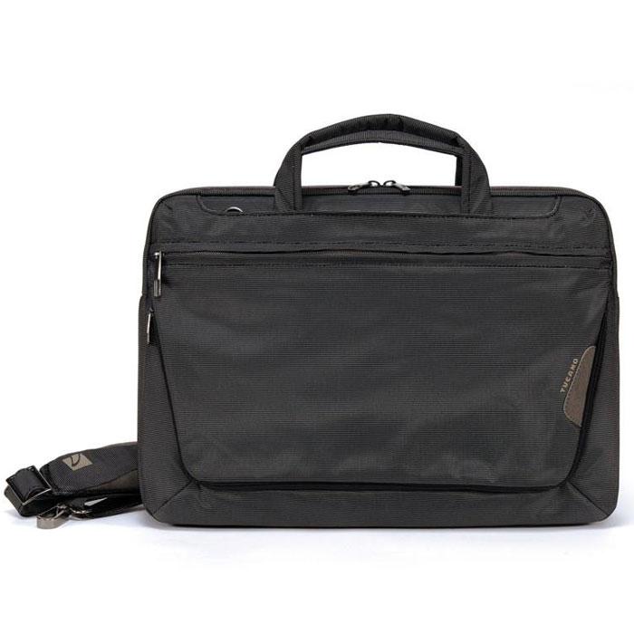 Tucano Expanded сумка для Apple 15, Black (BEWO15-M)BEWO15-MСумка Tucano Expanded для ноутбуков с диагональю до 14, а также Apple MacBook с диагональю до 15. Прочные и износостойкие материалы Основное отделение оборудовано защитными системами Anti-Shock System, Secure-Fit Pocket, Anti-Slip System Внешний карман-конверт на молнии для аксессуаров Наружные передний и задние карманы на молнии для дополнительных принадлежностей Задний карман для крепления на выдвижную ручку чемодана на колесиках Двойные мягкие удобные ручки Внутренняя отделка из светлого материала Регулируемый плечевой ремень на карабинах