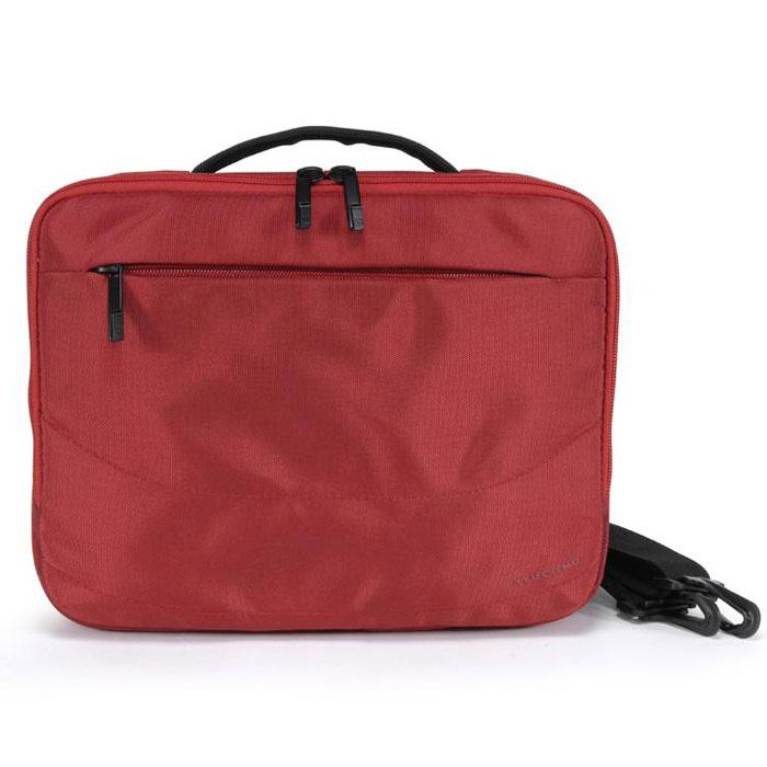Tucano Wallet сумка для ноутбуков 9-11.6, Red (BNW10-R)BNW10-RКомпактная и легкая сумка через плечо Tucano Wallet для ноутбуков с диагональю до 11,6. Подходит для большинства DVD плееров. Наружный карман на молнии для аксессуаров Быстрый доступ к заднему отделению Съемный регулируемый плечевой ремень Удобная ручка