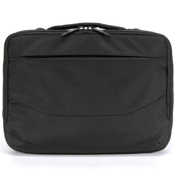 Tucano Wallet сумка для ноутбуков 9-11.6, Black (BNW10)BNW10Компактная и легкая сумка через плечо Tucano Wallet для ноутбуков с диагональю до 11,6. Подходит для большинства DVD плееров. Наружный карман на молнии для аксессуаров Быстрый доступ к заднему отделению Съемный регулируемый плечевой ремень Удобная ручка